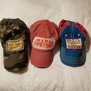 Trucker junk gypsy and farm girl bundle of hats